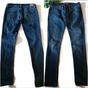 Levi's 524 low rise skinny jeans mid wash